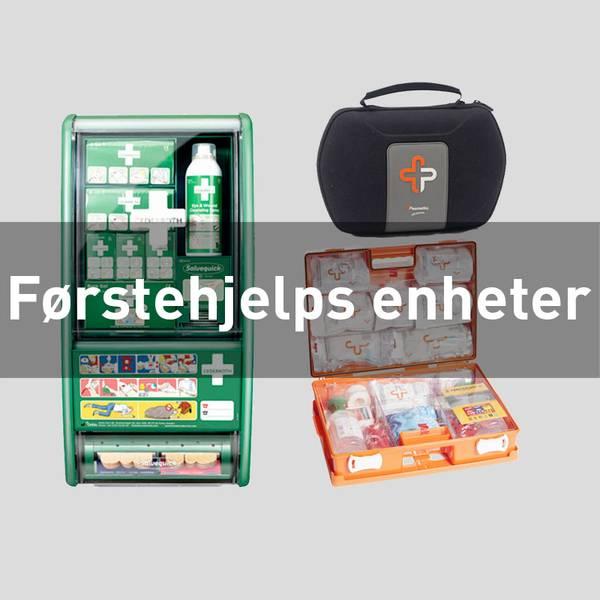 Førstehjelpskoffert førstehjelpspute plasterdispenser cederroth